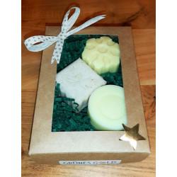 Weihnachts-Geschenkbox Naturseifen